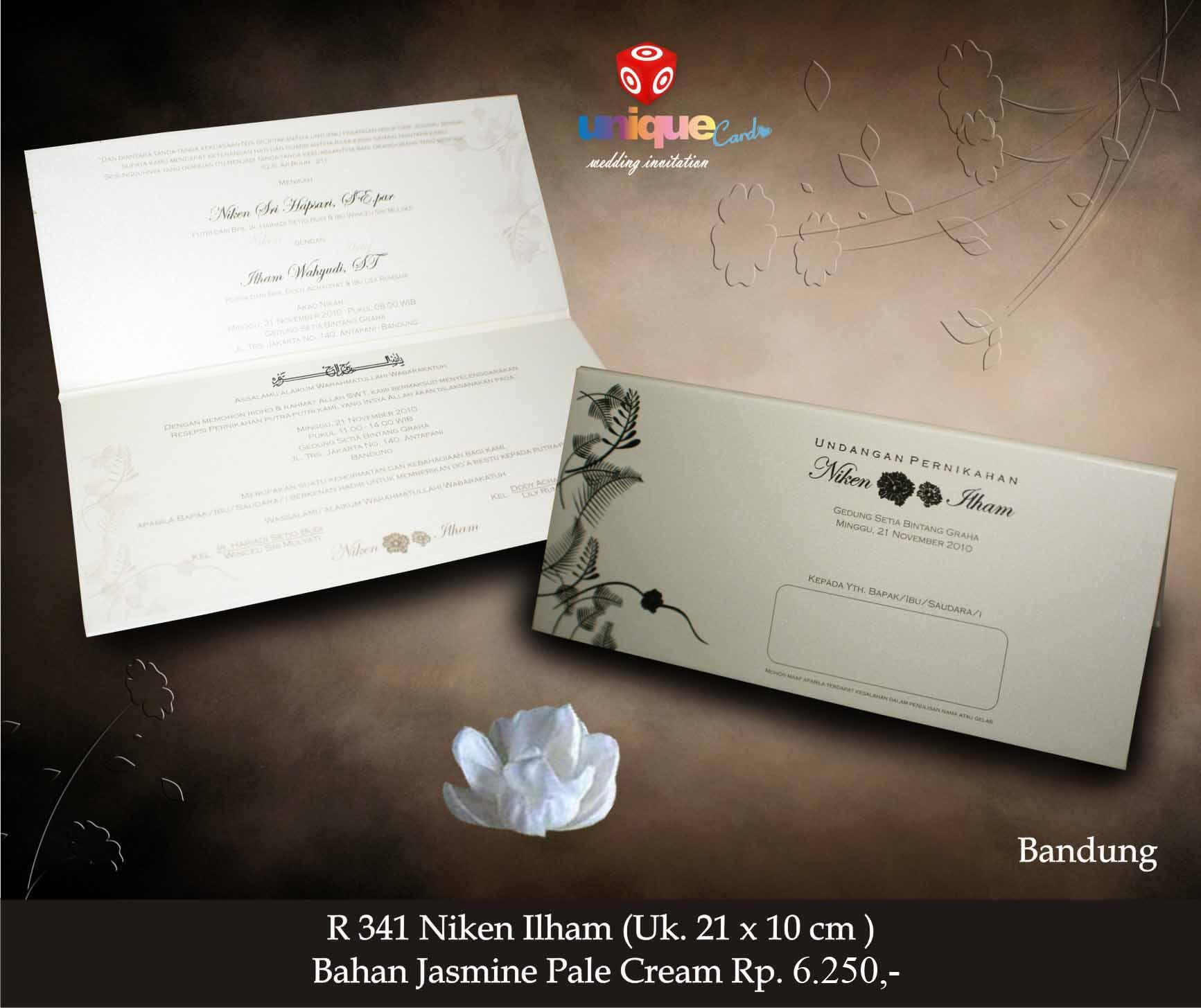 Undangan Pernikahan Niken Ilham Unique Card Wedding