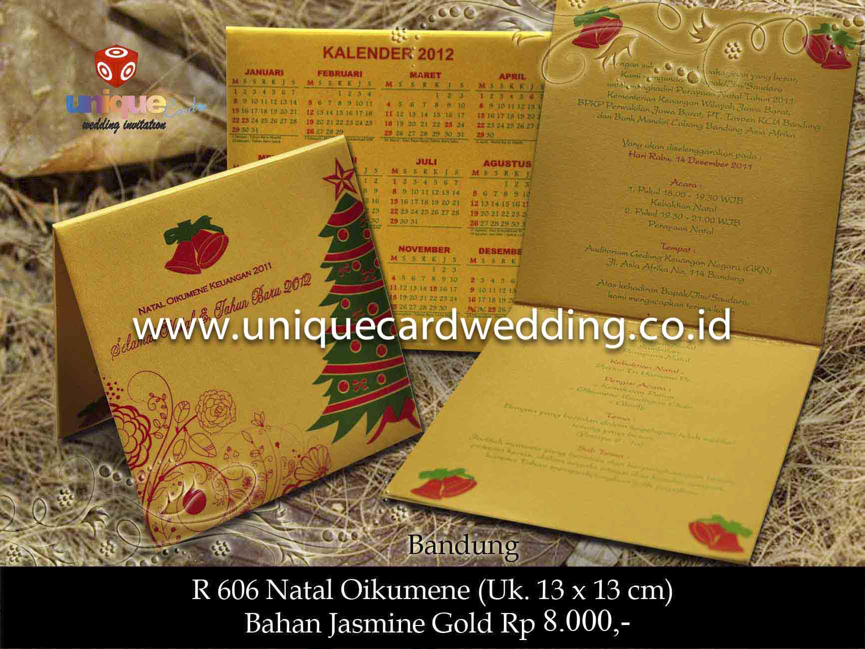 Undangan Pernikahan Natal - Oikumene - Unique Card Wedding ...