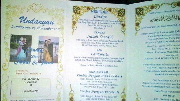 undangan pernikahan printing